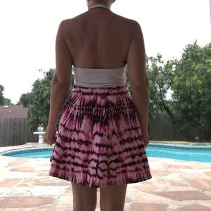 Tie-dyed panel skirt